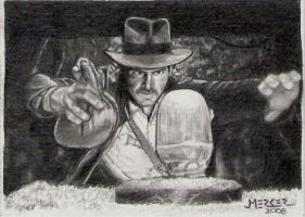 Raiders Indy sketch card by jenchuan