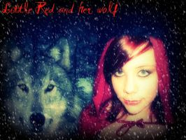 Little Red and her wolf by RinKagamine93