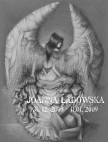 a black rose angel 2 by Ladowska