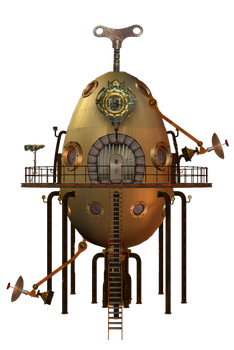 SteamPunk Tower stock by mysticmorning