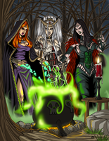 Tabletop Witch Coven by ProdigyDuck