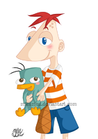 phineas and perry by miesmud