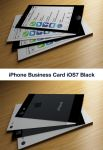 IPhone Business Card iOS7 Black by CaCaDoo