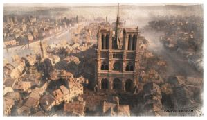 Notre Dame Watercolour 3 by vampirekingdom