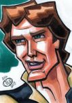 Han Solo Sketch Card by Chad73