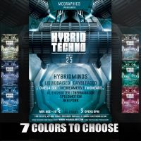 Hybrid Techno Flyer Template by MCerickson