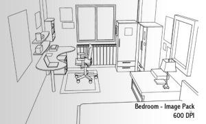 Bedroom image pack - 600 DPI by screentones
