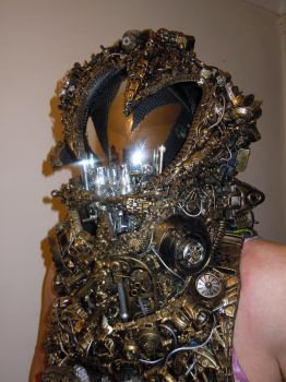alien astronaut/ Ancient Astronaut steampunk cyber by overlord-costume-art