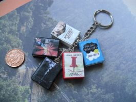 John Green collection book charm keychain by InsaneJellyBean95