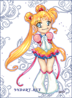 chibi sailor moon by shidonii