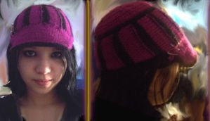 Magenta and Black decon hat by EricaVee