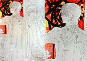 Zero And Kaname WIP by Ellwell