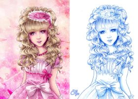 Mademoiselle Rose pencil by clefchan