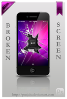 Broken screen by Puzjaka