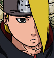 Deidara Looks Up by SractheNinja