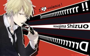 Drrr wall I hate violence by Yamakara