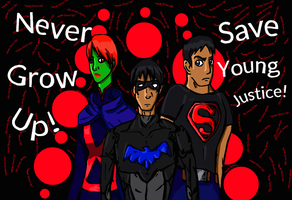 Young Justice: Never Grow Up by BlakeJamesEpicArt