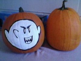 Super Mario Bros 3 Boo Pumpkin by ChozoBoy