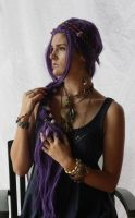 Purple Hair 1 by dazzle-stock