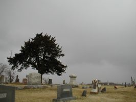 Graveyard Cloudy Day 1 by DarkMaiden-Stock