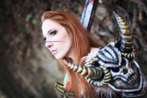 Diablo 3 Female Barbarian Cosplay by emilyrosa
