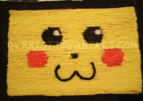 Pikachu Yarn Picture by d4rkest