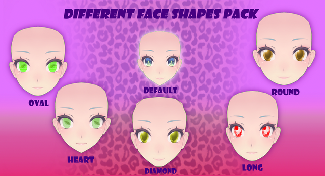 TDA different face shapes pack by Sailor-Crystal-Moon