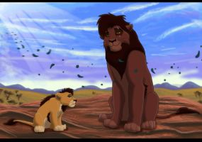 Lion King- Kovu and his son by Gashu-Monsata