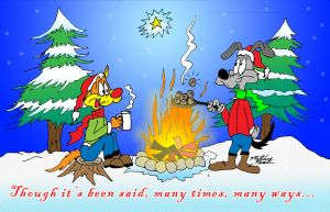 Bill and Buster Christmas Card 2010 by MatthewHunter