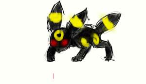Creepy Umbreon by PalletteArt