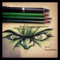 Hulk Eyes by FSardenberg