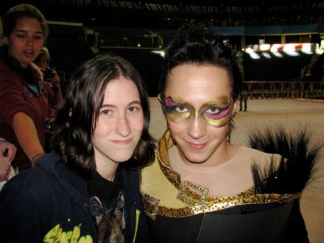 Me and Johnny Weir by CodeXANA