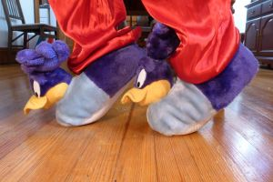 Road Runner slippers, side by ExileLink