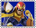 Captain Falcon's Stamp by RalphAguilar462
