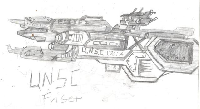 UNSC Friget up close by mecha91
