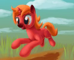 Galloping pony by odooee