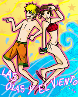 summer crack naruto and tenten by parch