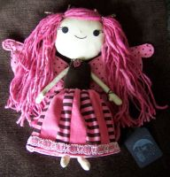 Pink Dilly Dally Raggedy Faery by littlemoonoriginals