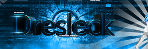 Banner Youtube Dresleck Blue concept By Zerozx78 by Zerozx78Advent