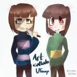 Underswap Frisk and Chara (collab)  by MalaysianBruh