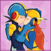 MMBN - Rockman and Sandra by KarinEXE
