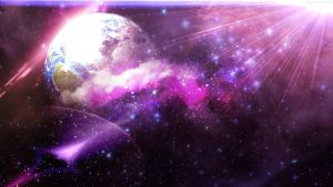 Purple Space Wallpaper by Tahmidismyname