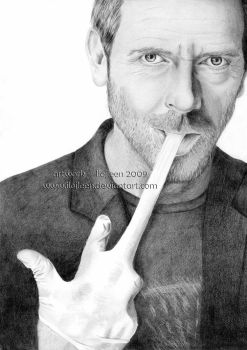 Hugh Laurie - Gregory House 02 by Ilojleen