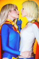 Kiss Power Girl Super Girl Cosplay Clef Ladylili by LadyliliCosplay