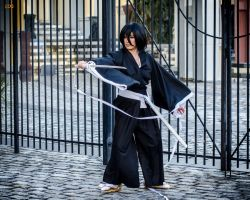 Rukia Cosplay: The Fight by firecloak