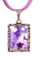 Purple and Lavender Melted Crayon Necklace by annjepsen
