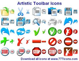 Artistic Toolbar Icons by Ikonod