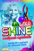 flyer for shine party by sounddecor