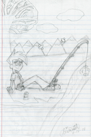 :sketch: A Lazy Fishing Day by Linariel
