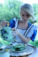 alice at the tea party by bananacub